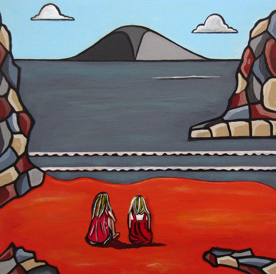 Beach Scenes  Painting - What Was by Sandra Marie Adams