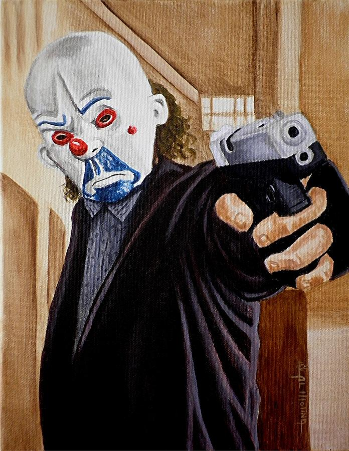 Joker Painting - Whatever Doesnt Kill You Simply Makes You Stranger by Al  Molina