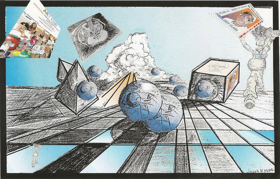 Drawing Pastel - Whats Different In This Reflection by Joseph Mora