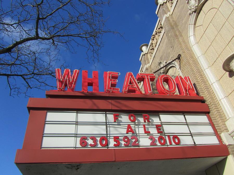 Old Movie Theatre Photograph - Wheaton Theatre by Todd Sherlock