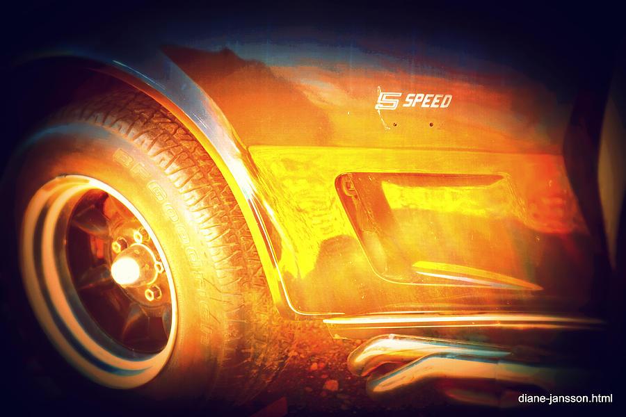 Corvette Photograph - Wheel On Fire by Diane montana Jansson