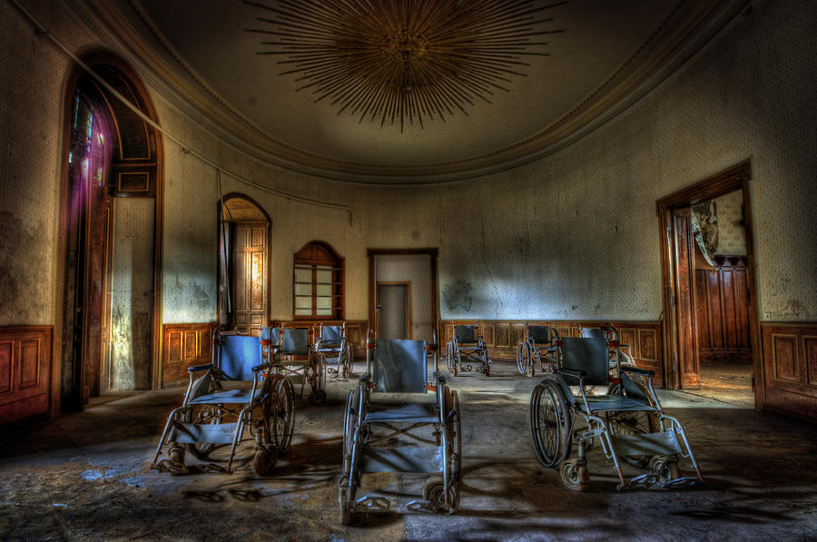 Century Photograph - Wheelchairs Are Us by Nathan Wright