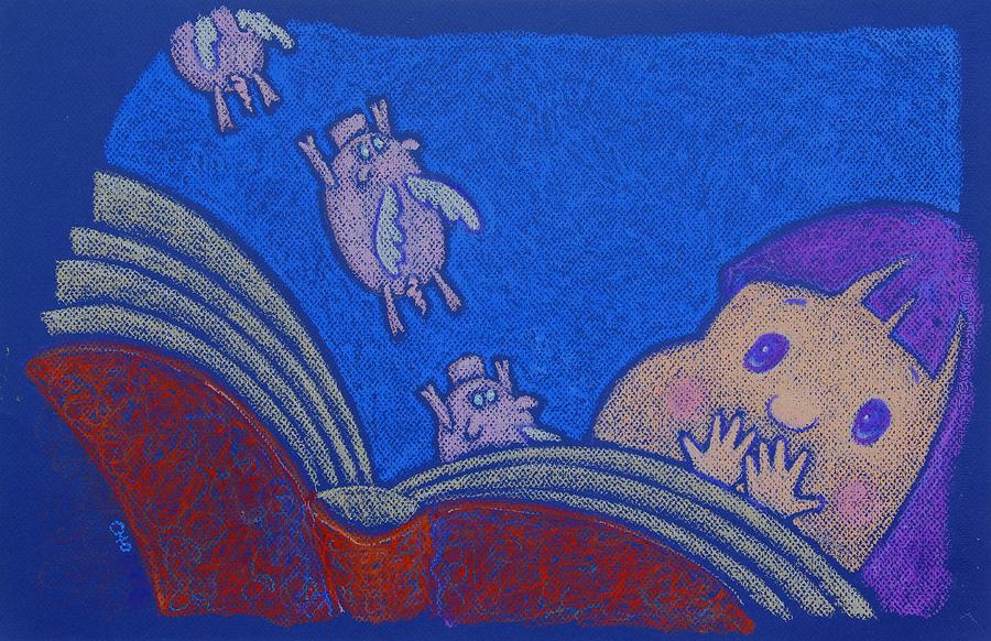 Open Book Pastel - When Pigs Fly by wendy CHO