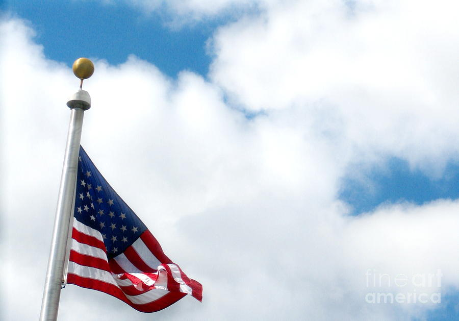 Flag Photograph - When Shall Truth Set Us Free? by Rory Sagner