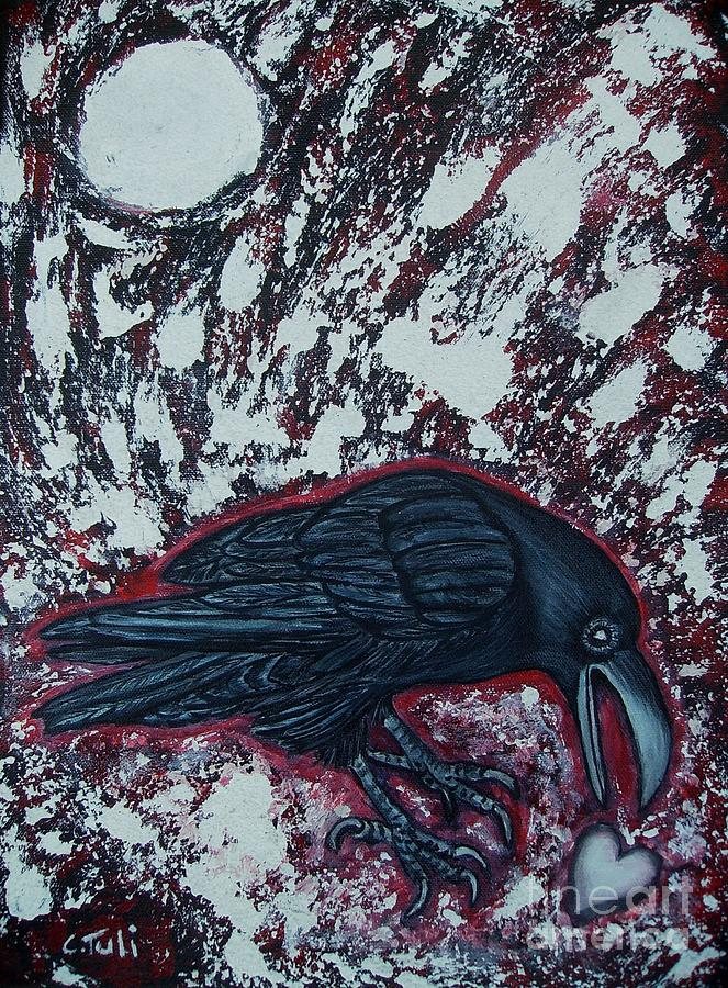 Raven Painting - When The Raven Returned The Light by Claudia Tuli
