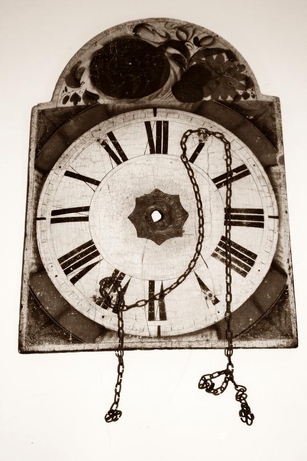 Old Clock Photograph - When Time Stopped by Chiselev Alexandru