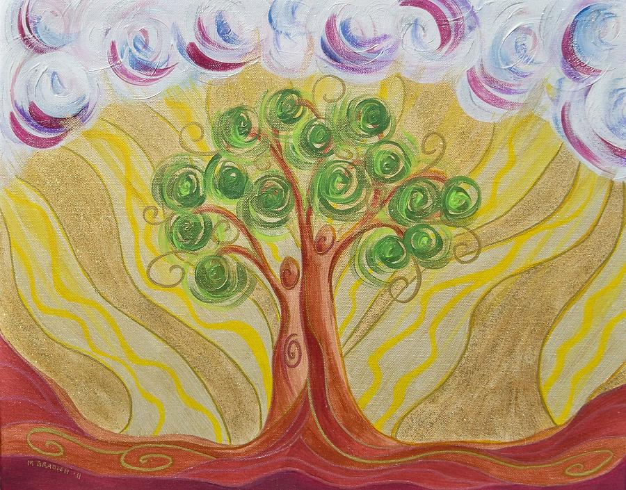 Tree Painting - When Two Become One by Marion Bradish