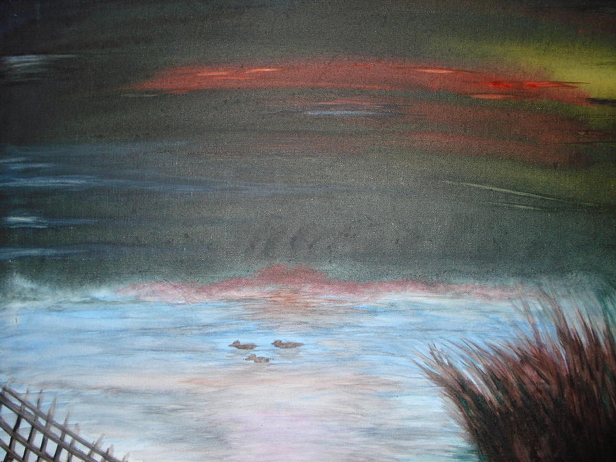 Landscape Painting - Where The Life Meets The Horizon by Prasenjit Dhar