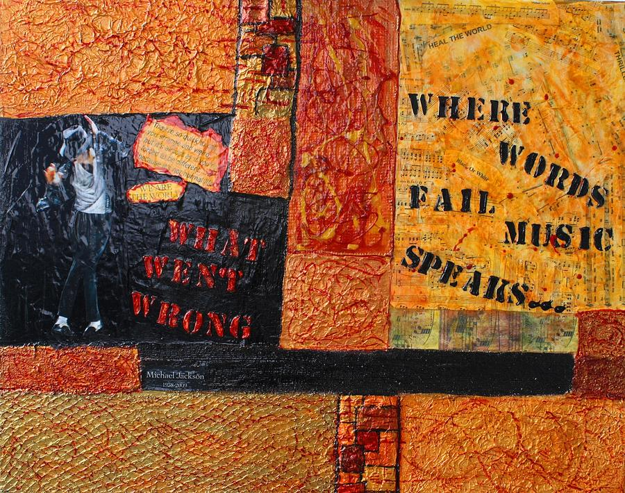Music Mixed Media - Where Words Fail Music Speaks by Victoria  Johns