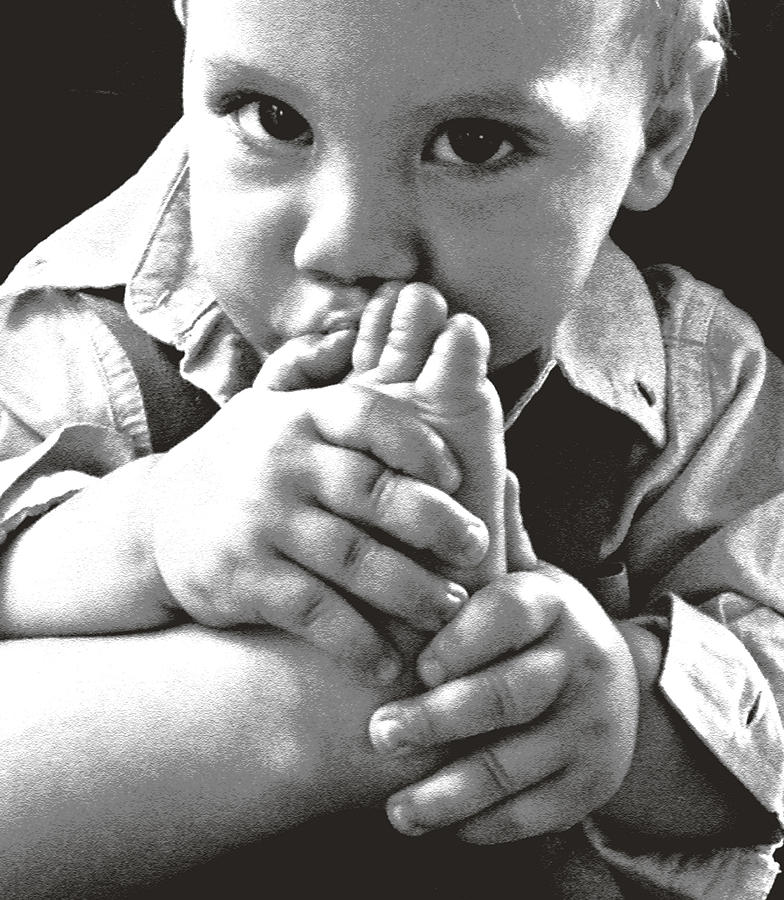 Hands Photograph - Which Thumb by Elisia Cosentino