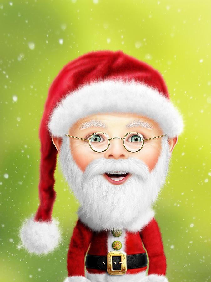 Christmas Digital Art - Whimsical Santa Claus by Bill Fleming