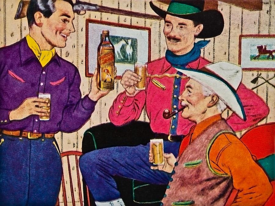 Whiskey Advertisement Photograph by Susan Leggett