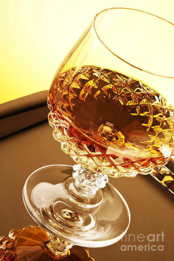 Whiskey Photograph - Whiskey In Glass by Blink Images