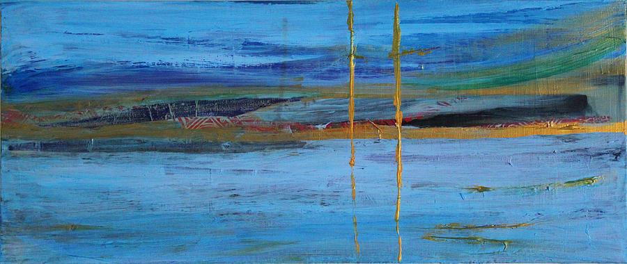 Abstract Mixed Media - Whispering Sea by Samar Asamoah