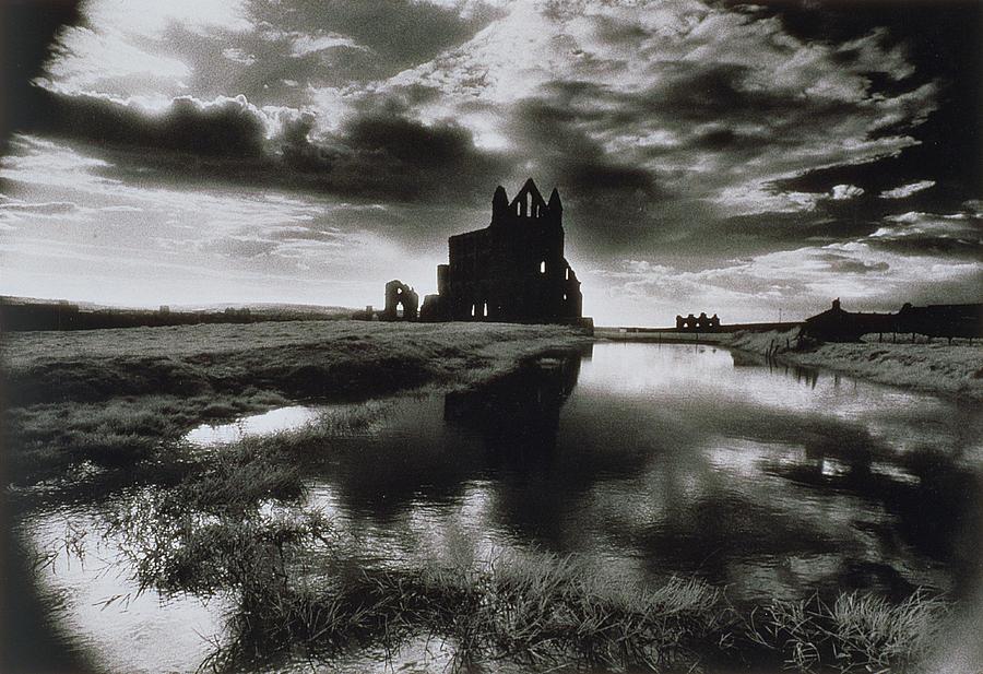 Ruin; Ghostly; Eerie; Dracula Photograph - Whitby Abbey by Simon Marsden