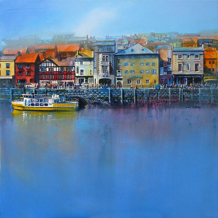 Architecture Painting - Whitby St Annes Staith by Neil McBride