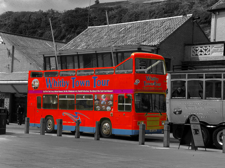 Transportation Photograph - Whitby Tour Bus by Trevor Kersley