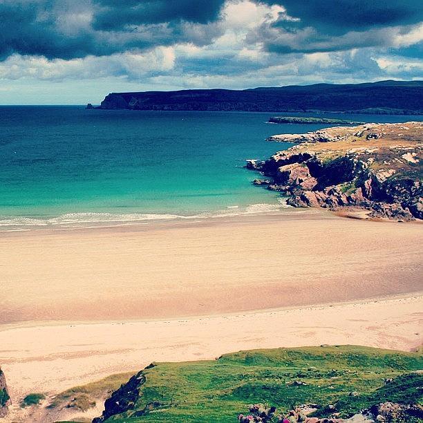 Scotland Photograph - White Beach In Scotland by Luisa Azzolini