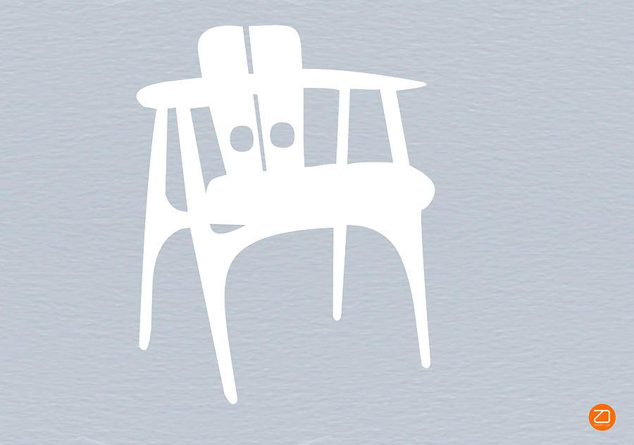 Eames Chair Photograph - White Chair by Naxart Studio