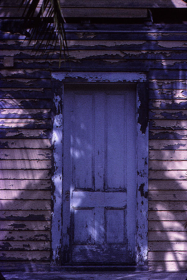 Door Photograph - White Door by Bob Whitt