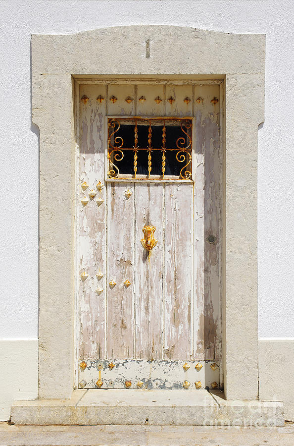 Abstract Photograph - White Door by Carlos Caetano