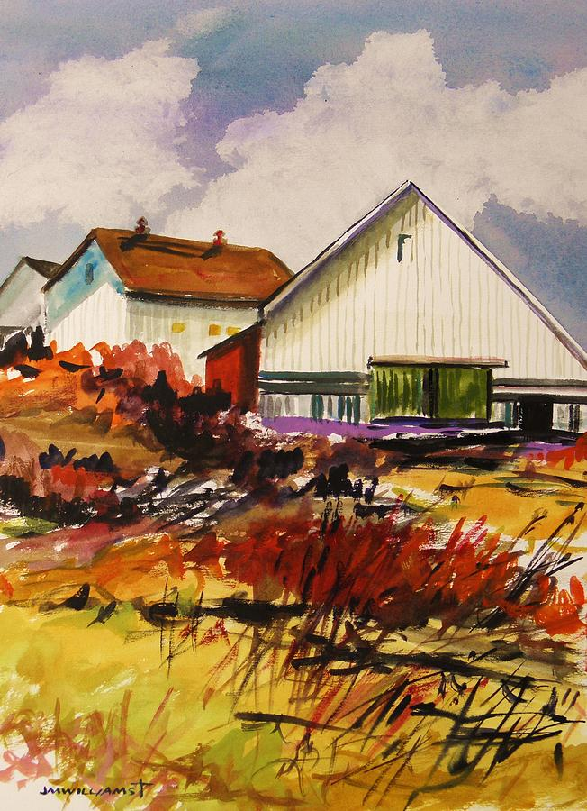 Farm Painting - White Farm-spring by John Williams