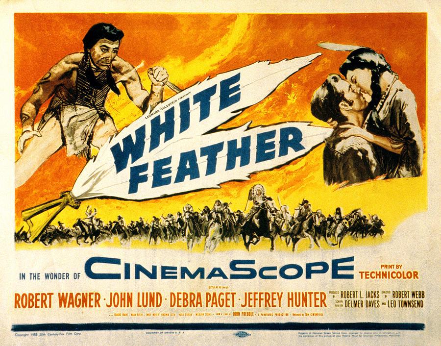 1955 Movies Photograph - White Feather, Jeffrey Hunter, Robert by Everett
