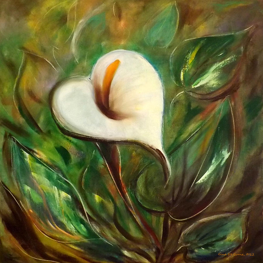 White flower painting by gina de gorna flower painting white flower by gina de gorna mightylinksfo Images