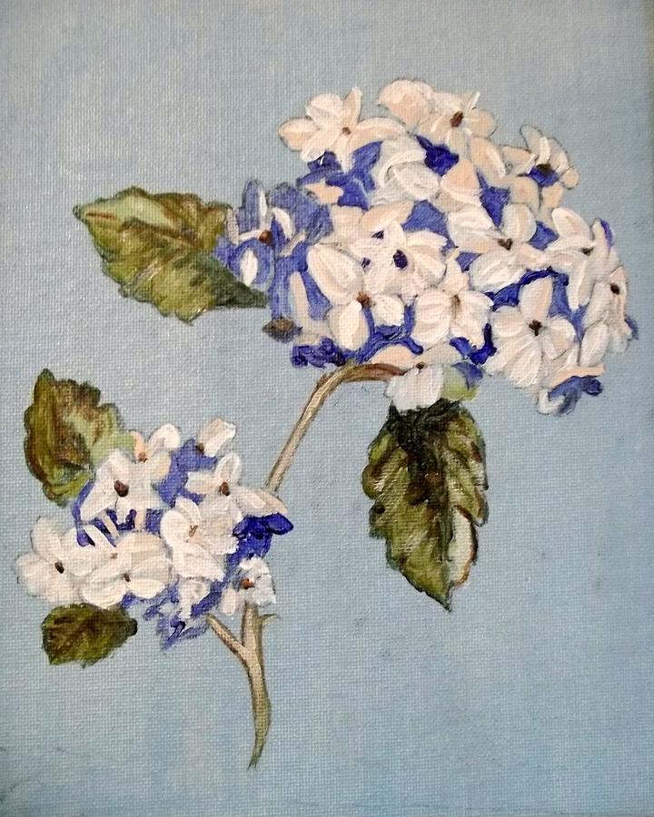White Flowers Painting By Cathy Jourdan