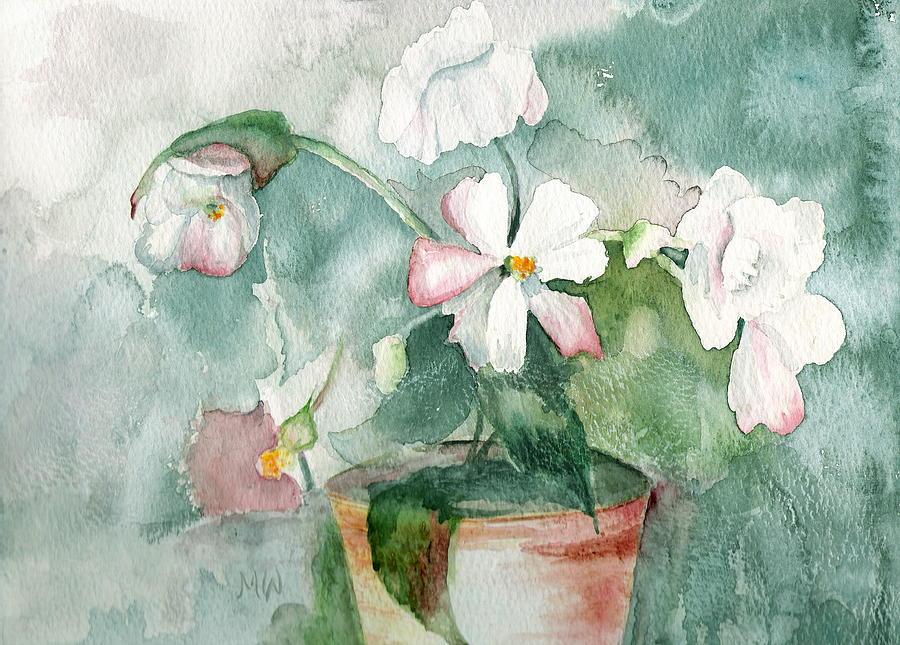 White Flowers by Marsha Woods