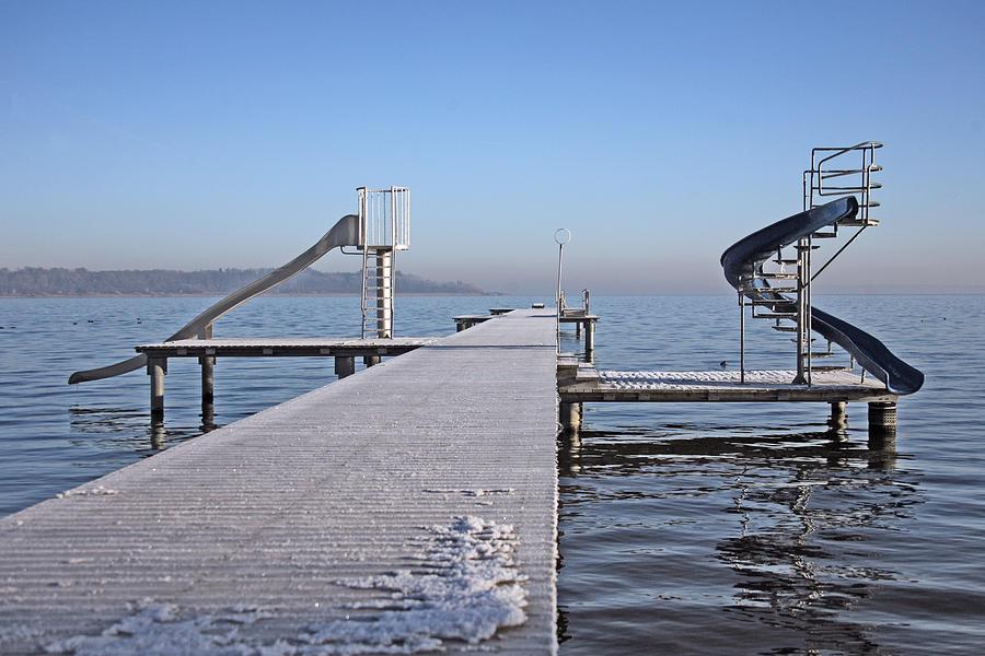 White Photograph - White Frost Slide by Ralf Kaiser