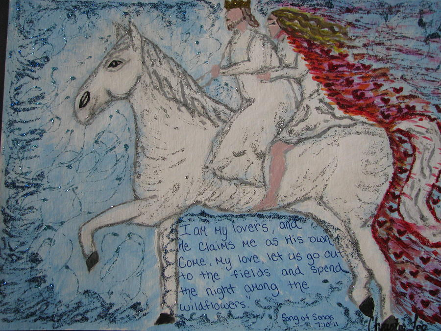 White Horse Painting by Christie Lee