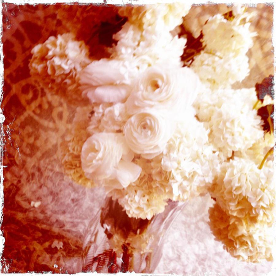 Hydrangeas Photograph - White Hydrangeas With Ranunculus by Ruby Hummersmith