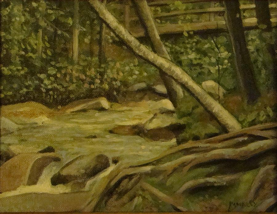 Nature Painting - White Mountain Stream by Mark Haley