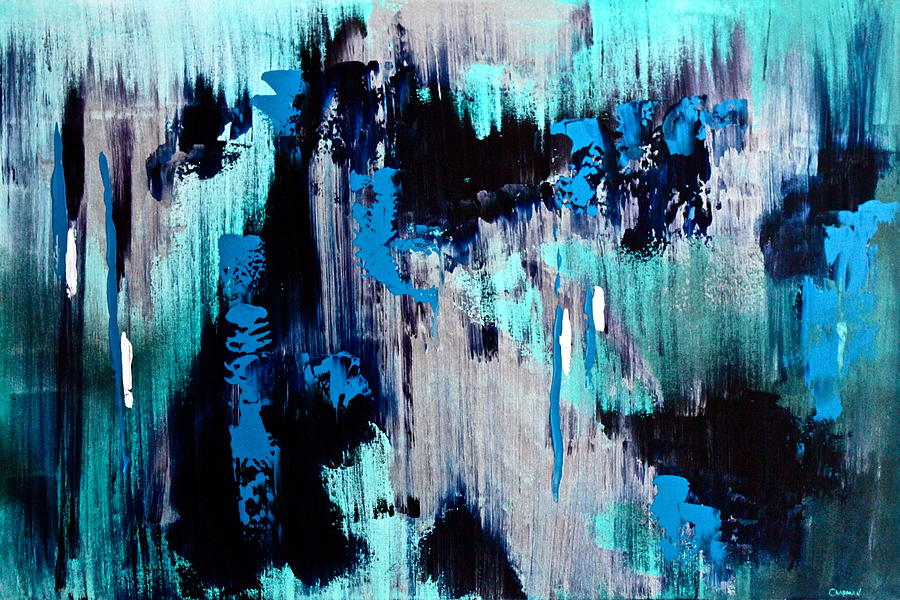 Original Painting - White Noise by Eric Chapman