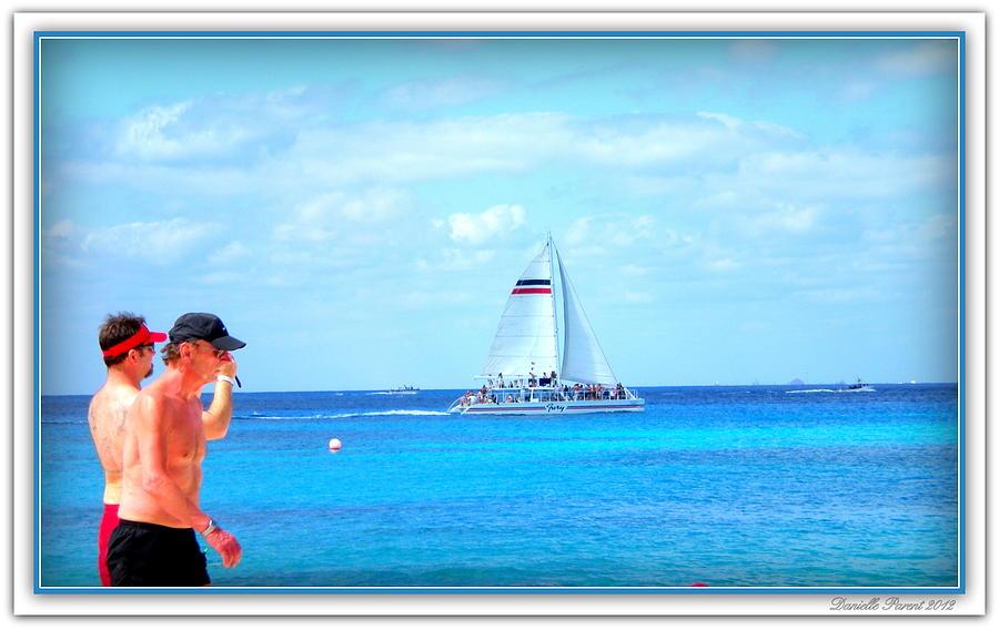 Sail Boats Print Photograph - White Sails by Danielle  Parent
