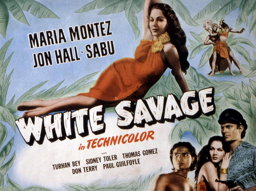 White Savage, Maria Montez, Sabu, Jon Photograph By Everett