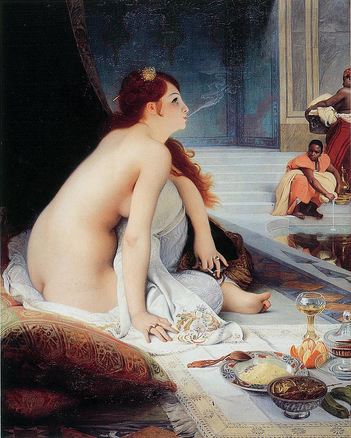 White Slave Painting - White Slave by Jean-Jules Antoine Lecomte Du Nouy