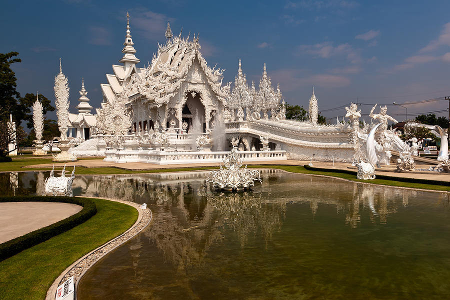 Asia Photograph - White Temple by Adrian Evans