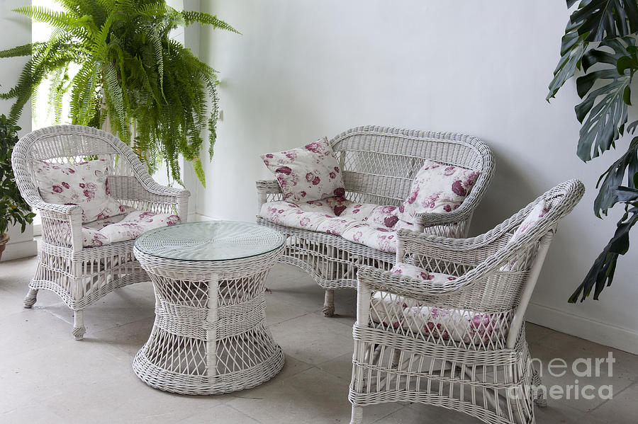 White Wicker Furniture By Jaak Nilson