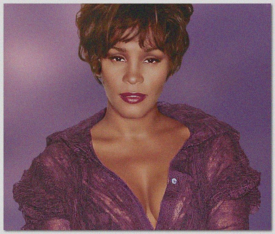 Woman Photograph - Whitney Houston Song Bird No. 4 by De Beall