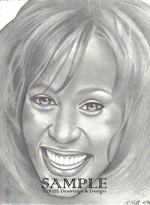 Portraits Drawing - Whitney by Rick Hill