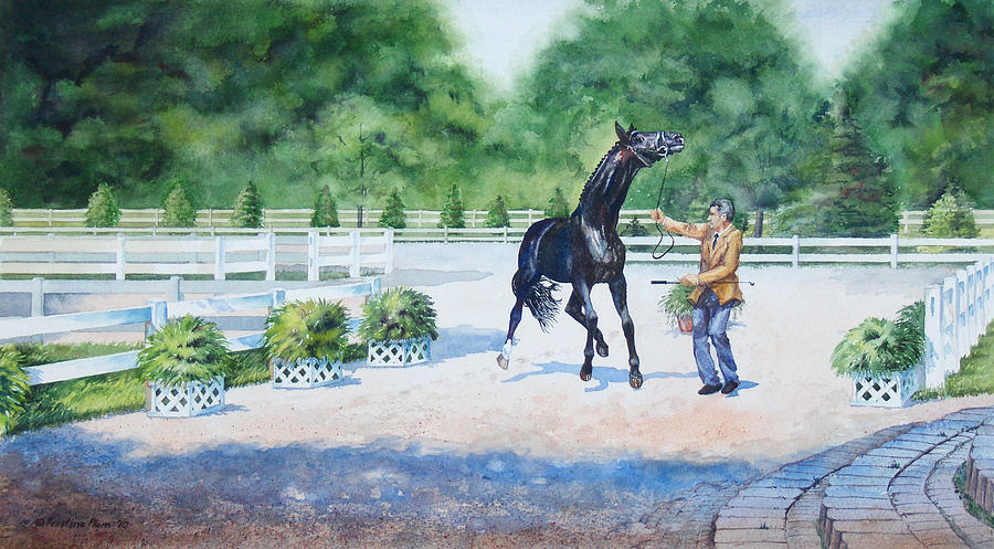 Horse Painting - Whoa Wait Trot by Kristine Plum