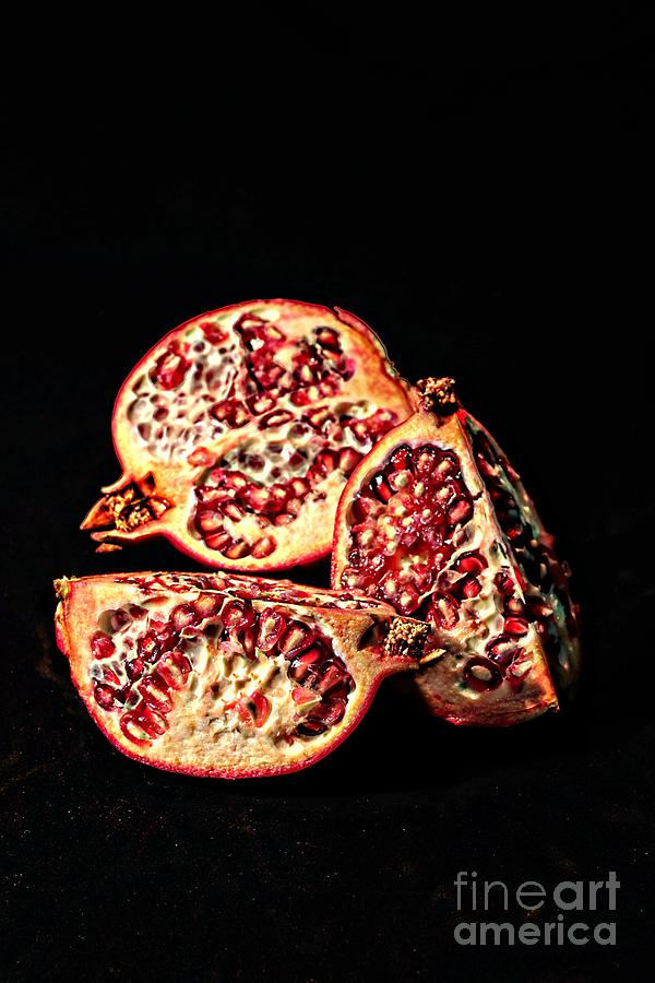 Pomegranate Fruit Garden Gourd Eat Food Kitchen  Digital Art - Whole by David Taylor