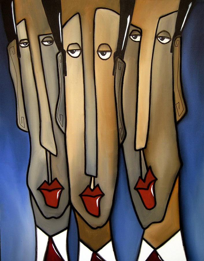 Abstract Art Paintings Painting - Whos The Boss by Tom Fedro - Fidostudio