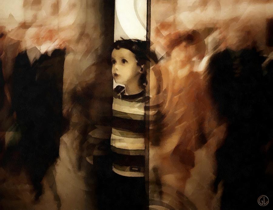 Child Digital Art - Why Do They Always Rush by Gun Legler