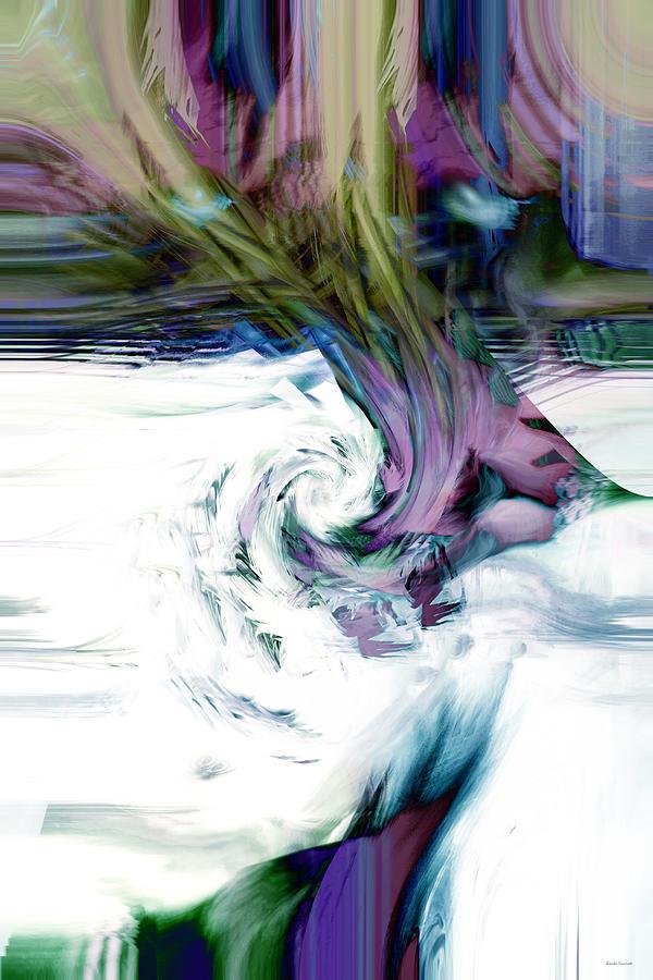 Abstract Digital Art - Why by Linda Sannuti