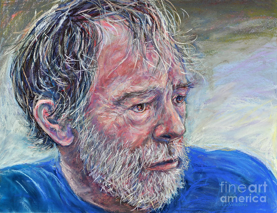 Pastel Painting - Wicked Archeologist John by Li Newton