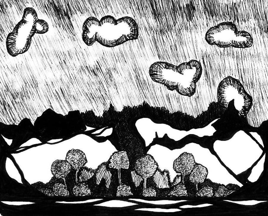 Landscape Drawing - Wicked Sratchy by Richard Lloyd