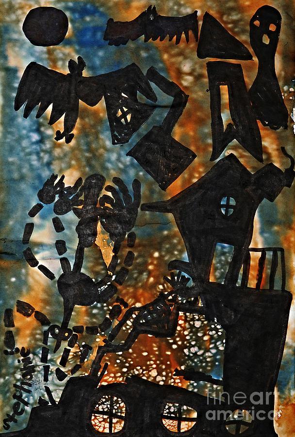 Halloween Mixed Media - Wicked by Stephanie Ward